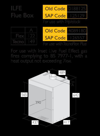 Infographic for Triplelock Ilfe Flue Box