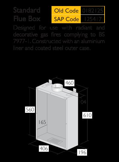 Infographic for a Triplelock Sandard Flue Box