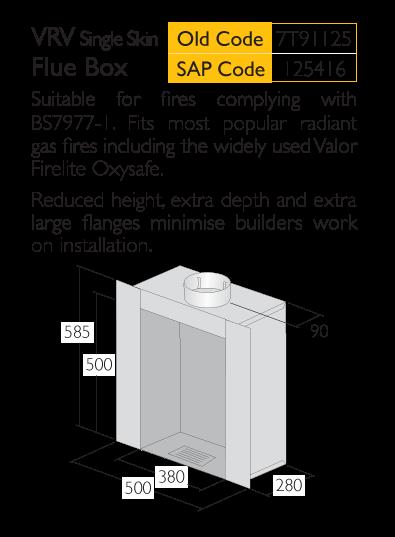 Infograph for Triplelock VRN Single Flue Box