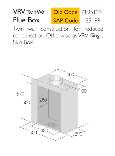 Infograph for Triplelock VRN Twin Flue Box